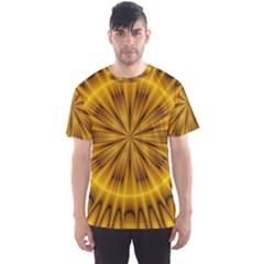 Fractal Yellow Kaleidoscope Lyapunov Men s Sport Mesh Tee