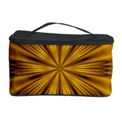 Fractal Yellow Kaleidoscope Lyapunov Cosmetic Storage Case