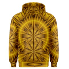 Fractal Yellow Kaleidoscope Lyapunov Men s Zipper Hoodie