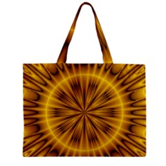 Fractal Yellow Kaleidoscope Lyapunov Zipper Mini Tote Bag