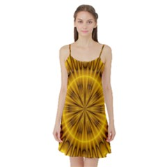 Fractal Yellow Kaleidoscope Lyapunov Satin Night Slip