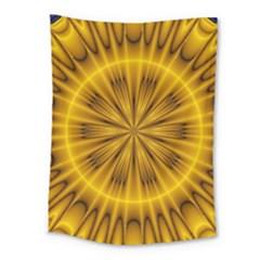 Fractal Yellow Kaleidoscope Lyapunov Medium Tapestry