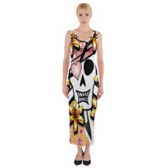Banner Header Tapete Fitted Maxi Dress