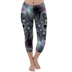 Precious Spiral Wallpaper Capri Winter Leggings