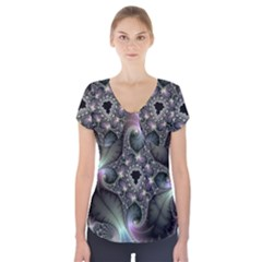 Precious Spiral Wallpaper Short Sleeve Front Detail Top