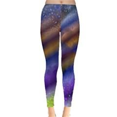 Fractal Color Stripes Leggings