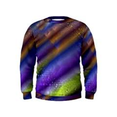 Fractal Color Stripes Kids  Sweatshirt