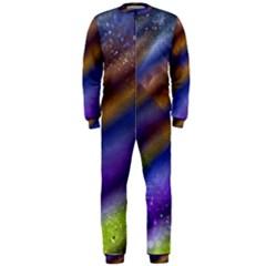 Fractal Color Stripes OnePiece Jumpsuit (Men)