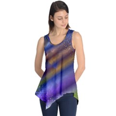Fractal Color Stripes Sleeveless Tunic