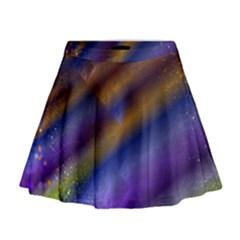 Fractal Color Stripes Mini Flare Skirt