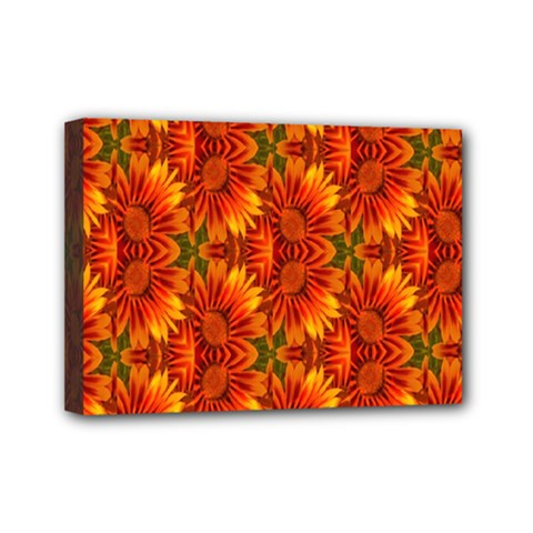 Background Flower Fractal Mini Canvas 7  X 5