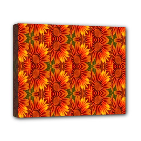 Background Flower Fractal Canvas 10  X 8
