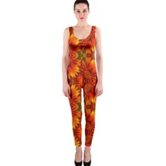 Background Flower Fractal OnePiece Catsuit