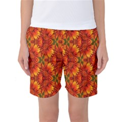 Background Flower Fractal Women s Basketball Shorts
