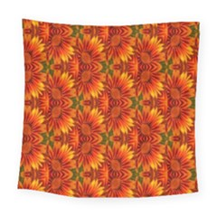 Background Flower Fractal Square Tapestry (large)