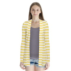 Horizontal Stripes Yellow Cardigans