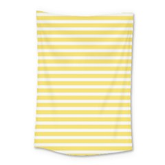 Horizontal Stripes Yellow Small Tapestry
