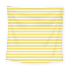 Horizontal Stripes Yellow Square Tapestry (large)