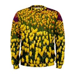 Colorful Tulips In Keukenhof Gardens Wallpaper Men s Sweatshirt
