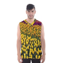 Colorful Tulips In Keukenhof Gardens Wallpaper Men s Basketball Tank Top
