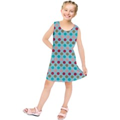 Large Colored Polka Dots Line Circle Kids  Tunic Dress