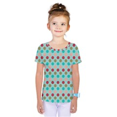 Large Colored Polka Dots Line Circle Kids  One Piece Tee