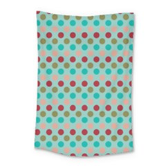 Large Colored Polka Dots Line Circle Small Tapestry