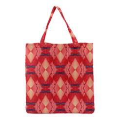 Orange Fractal Background Grocery Tote Bag
