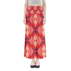 Orange Fractal Background Maxi Skirts
