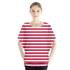 Horizontal Stripes Red Blouse