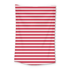 Horizontal Stripes Red Small Tapestry