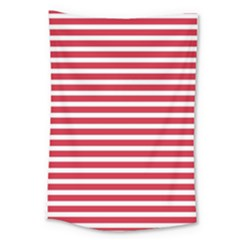 Horizontal Stripes Red Large Tapestry