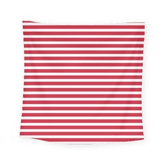 Horizontal Stripes Red Square Tapestry (small)