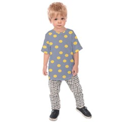Limpet Polka Dot Yellow Grey Kids  Raglan Tee