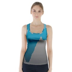 Mariana Trench Sea Beach Water Blue Racer Back Sports Top