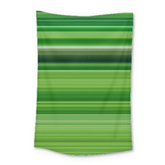 Horizontal Stripes Line Green Small Tapestry