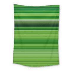 Horizontal Stripes Line Green Medium Tapestry