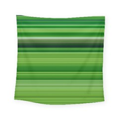 Horizontal Stripes Line Green Square Tapestry (small)