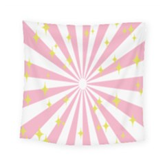 Hurak Pink Star Yellow Hole Sunlight Light Square Tapestry (small)