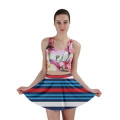Martini Style Racing Tape Blue Red White Mini Skirt