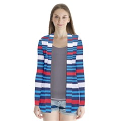 Martini Style Racing Tape Blue Red White Cardigans