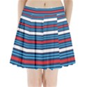 Martini Style Racing Tape Blue Red White Pleated Mini Skirt View1