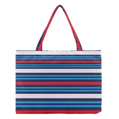 Martini Style Racing Tape Blue Red White Medium Tote Bag