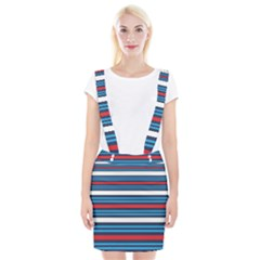 Martini Style Racing Tape Blue Red White Suspender Skirt