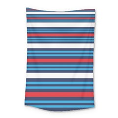 Martini Style Racing Tape Blue Red White Small Tapestry