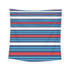 Martini Style Racing Tape Blue Red White Square Tapestry (small)