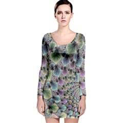 Beautiful Image Fractal Vortex Long Sleeve Bodycon Dress