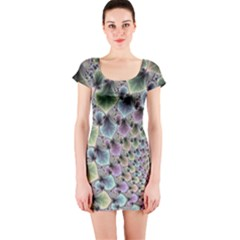Beautiful Image Fractal Vortex Short Sleeve Bodycon Dress
