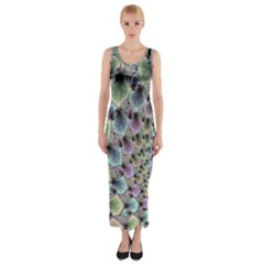 Beautiful Image Fractal Vortex Fitted Maxi Dress
