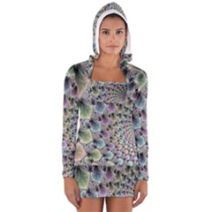 Beautiful Image Fractal Vortex Women s Long Sleeve Hooded T Shirt